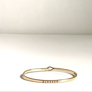 Jewelry - Bangle Message Bracelet Blessed Gold